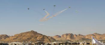 فريق الصقور السعودية يختتم عروضة في سماء العلا
