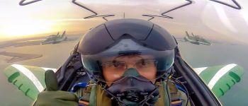 اللواء تركي بن بندر بن عبدالعزيز آل سعود يُحلق مع فريق الصقور السعودية