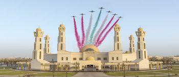 فريق الصقور السعودية يختتم مشاركته في مهرجان الورد والفاكهة في تبوك