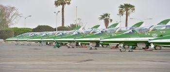 ختام العروض الجوية للصقور السعودية في الباحة