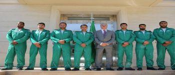 سفير المملكة في أثينا يستقبل فريق الصقورالسعودية المشارك في فعاليات أسبوع أثينا الرابع للطيران