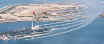 فريق الصقور السعودية يشارك دولة الامارات إحتفالاتها باليوم الوطني ٤٥