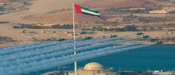 «الصقور السعودية» تشارك الإمارات احتفالاتها باليوم الوطني