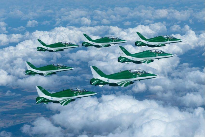 فريق الصقور السعودية يختتم مشاركته في معرض قدينيا الجوي في بولندا