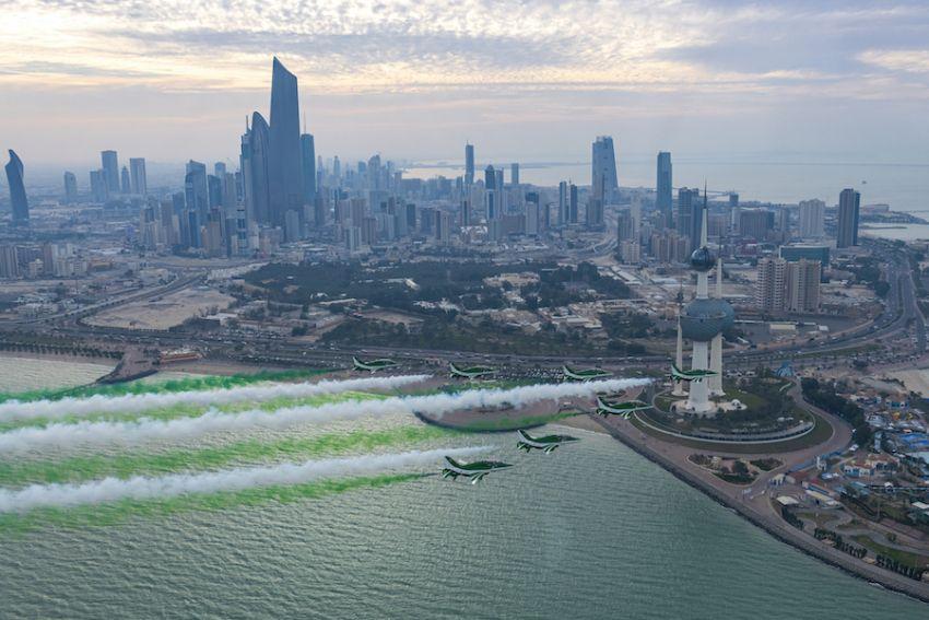 """فريق الصقور السعودية يشارك في """"معرض الكويت للطيران 2020"""""""