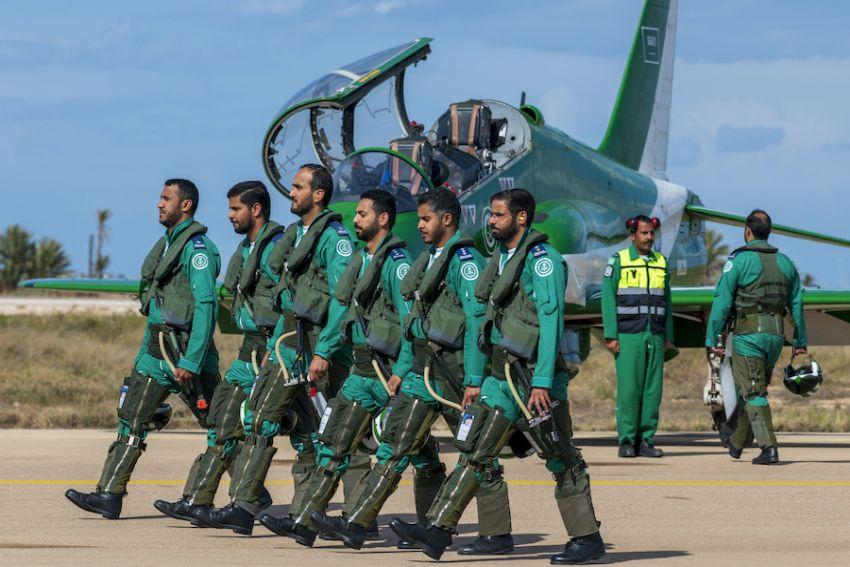 """الصقور السعودية"""" تختتم مشاركتها في المعرض الدولي لصناعة الطيران والدفاع بتونس"""